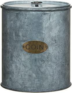 Galvanized Can Coin Bank