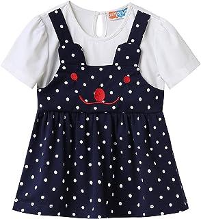 X&M DRAGON Toddler Baby Girls Dress Summer Polka Dot Cocktail Party T- Shirt Dresses