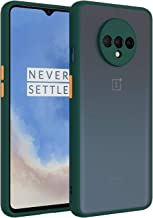 Amzio Back Case Cover for OnePlus 7T Back Cover Slim Camera Protection Shockproof Anti Slip Grip PC TPU Smock Back Cover for OnePlus 7T One Plus 7T Dark Green