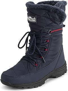 POLAR Womens Memory Foam Faux Fur Cuff Deep Tread Non Slip Rubber Sole Winter Snow Thermal Outdoor Boots