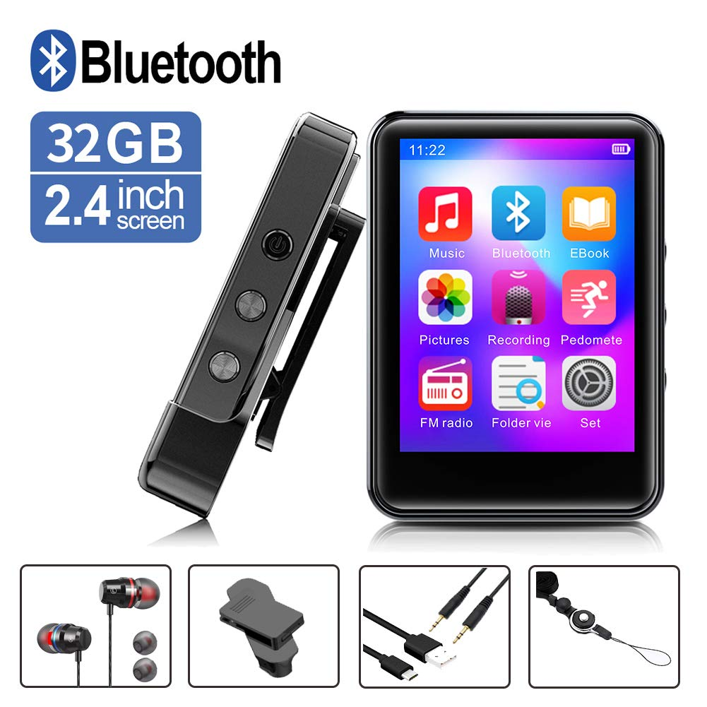 MP3Player Bluetooth Portable Recorder Expandable
