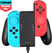 Customized Controller Charging Grip Compatible with Nintendo Switch Joy Con + USB Type C Charging Cable + 2 Pro Thumb Grip Caps Included