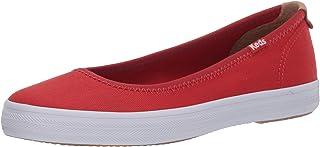 حذاء باليه مسطح للسيدات من Keds لون أحمر، مقاس 7 M