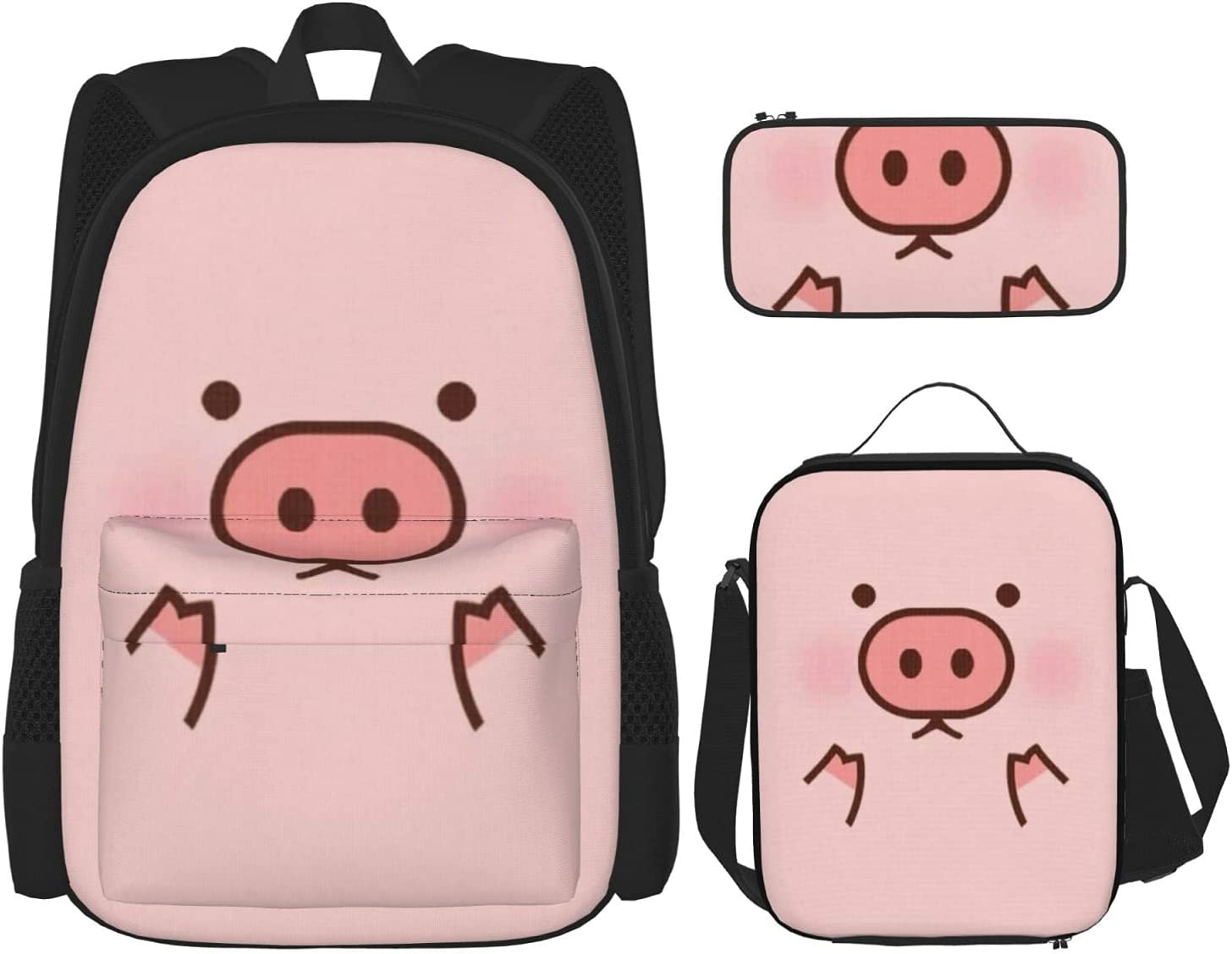 Back To School Gift Baltimore Mall - Piggy Cartoon Cute Scho Pink store Pig Patterned