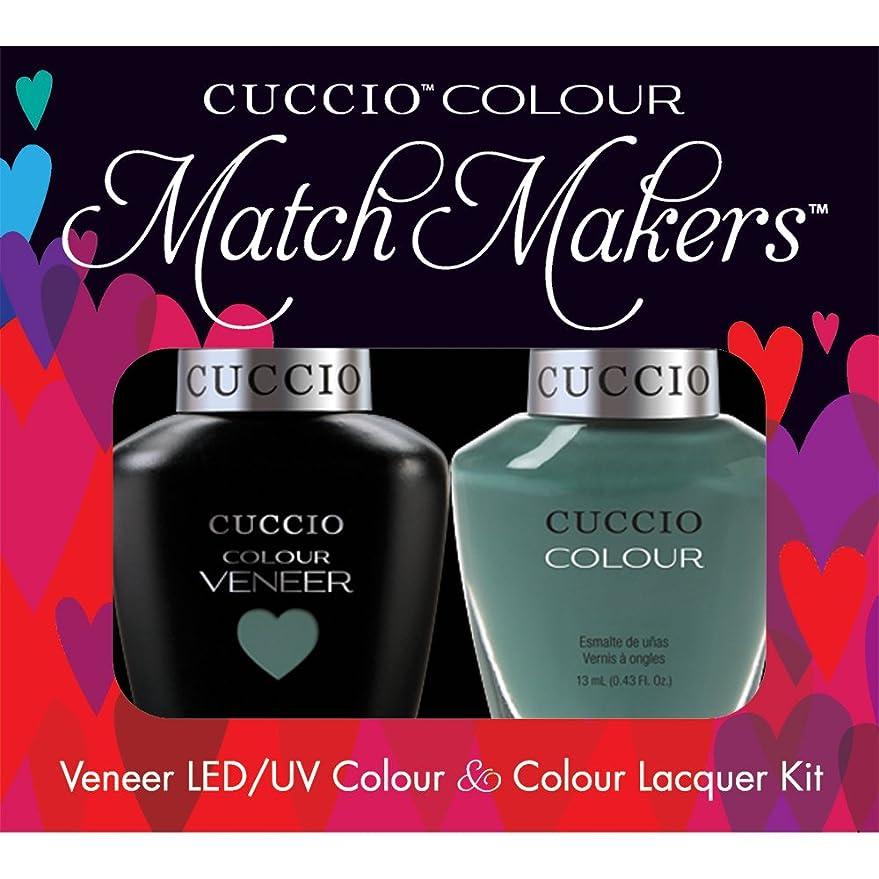 妻影のあるタイルCuccio MatchMakers Veneer & Lacquer - Dubai Me an Island - 0.43oz / 13ml Each