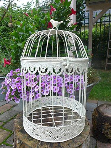 Décoration Cage à oiseau ronde Blanc/métal 39 cm (390350) Panier à plantes