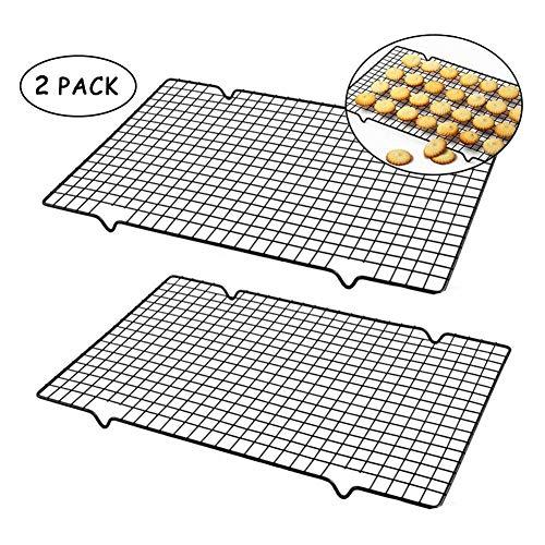 2ST Nonstick Metallkuchenkühlrost Grid Net Backblech Plätzchen Kekse Brot Pizza Trockenkühler Halter Küchenhelfer Ständer Kitchen Tools (Color : 1)