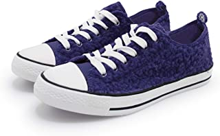 Women's Sneakers Casual Canvas Shoes, Low Top Lace up Cap Toe Flats (Order One Size Up) Blue Size: 9