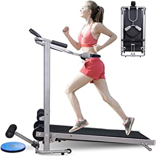Cattou Household Supplies Folding Shock Running, Supine, Twisting, Massage Four-in-one Mechanical Treadmill