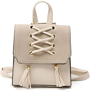 Tassel Female Mini Backpack Leather Women Small Backpack Ladies Shoulder Bag