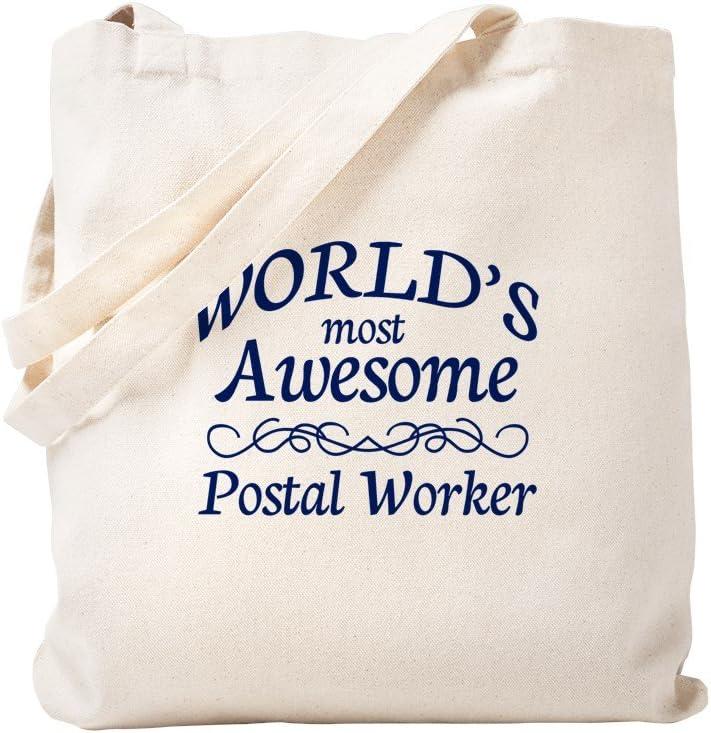 CafePress Postal Worker Tote Bag Natural Canvas Tote Bag, Reusable Shopping Bag