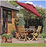 QDY lichtbeständige Patio-Gartentischschirme 9ft, winddichter Strandschirm tragbar, stabil und langlebig, Gartenschirm, für Gartenterrassenrasen und Schwimmbäder