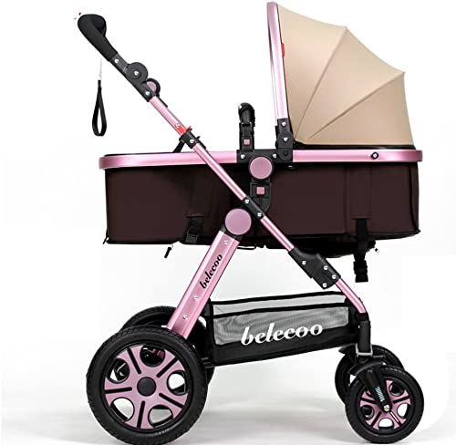 Kinderwagen Kinderwagen kann liegender faltender heller tragbarer Landschaftsschock sitzen Einfach zu verwenden (Farbe   6 )