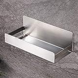 Zunto - Mensola da doccia autoadesiva, mensola da bagno senza foratura, in acciaio inossidabile