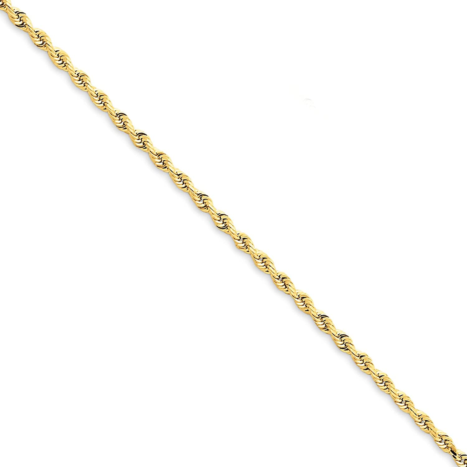 14k Yellow gold 2.00mm Rope 7inch bracelet