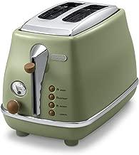 DeLonghi Pop-up toaster「ICONA Vintage Collection」CTOV2003J-GR (Olive green)【Japan Domestic genuine products】