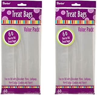 2 Packs of Darice 28-003V 4-Inch-by- 9-Inch Clear Treat Bag 60-Piece