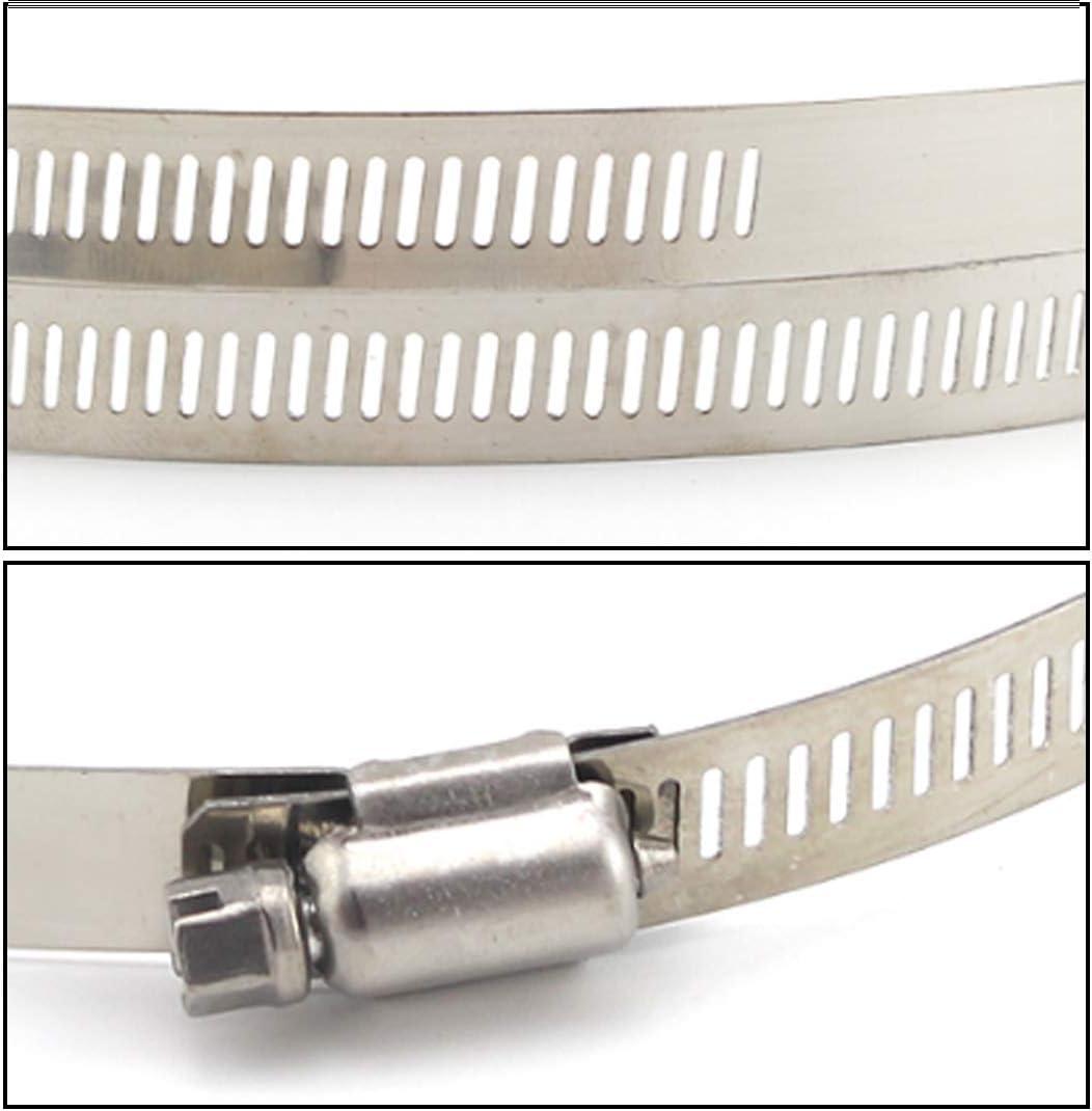 Huicai Clip per Tubi Acciaio Inossidabile 304 Oversize Morsetti per Canali Morsetti per Tubi Regolabile Fascetta
