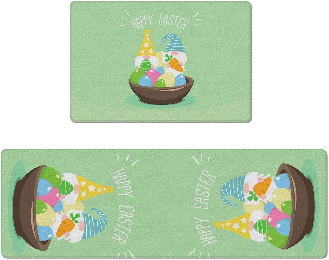 Anti Fatigue Kitchen Rug and Mat Ranking TOP15 Happy Easter Day Sets Cartoon Price reduction C