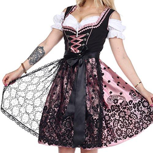 Lifos 0203 Dirndl 3Tlg. Trachtenkleid Oktoberfest Gr.34 bis 52 !!ORIGINAL (48)