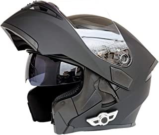 3c211b37 Shfmx Motocicleta Modular Bluetooth Casco Doble Lente Flip Frontal Casco de  la Motocicleta Música 80 Horas