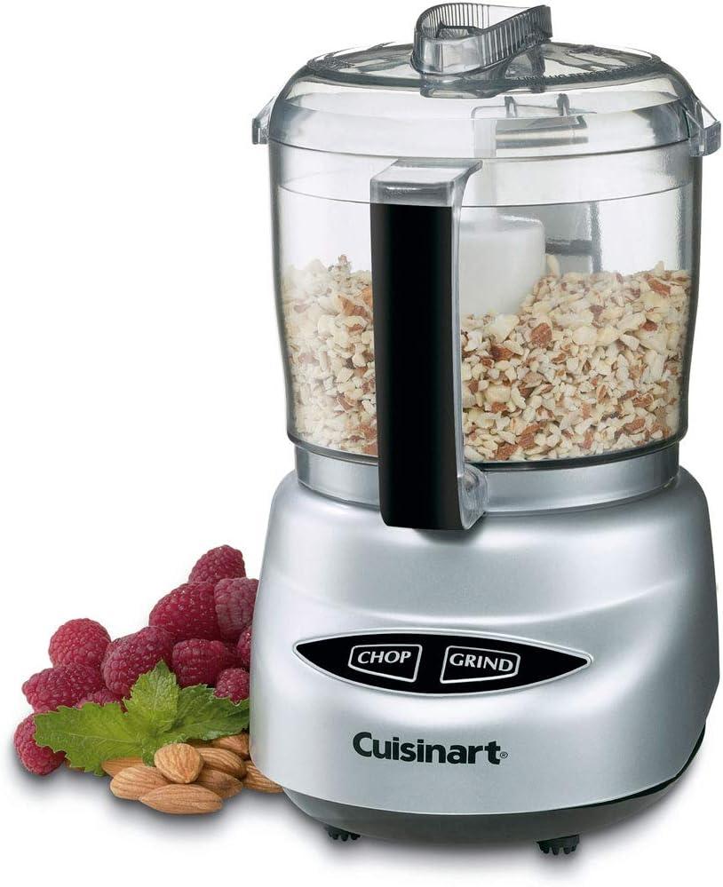 Cuisinart DLC-2ABC Mini Prep Plus Food Processor - Brushed Chrome - (Renewed)