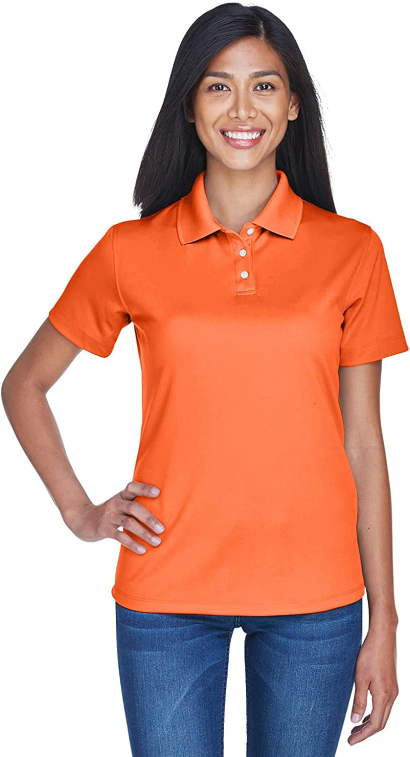 Ultraclub Ladies Cool & Dry Stain-Release Performance Polo 8445L -Orange 2XL