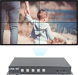 LINK-MI TV04S Splicing HDMI 2x2 Video Wall Screen Controller USB/HDMI Input Support 180 Degree Mirror Flip for LED/LCD Display Edge Shielding