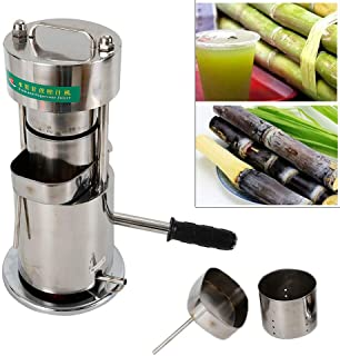 10T Manual Hydraulic Fruit Sugar Cane Juicer Fruit Juice Extractor, Used to Squeeze Sugar Cane,Ginger, Apples, Sorghum Bar, Corn Stalk and so on