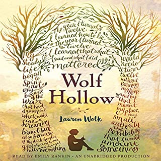 Wolf Hollow                   By:                                                                                                                                 Lauren Wolk                               Narrated by:                                                                                                                                 Emily Rankin                      Length: 6 hrs and 55 mins     381 ratings     Overall 4.5