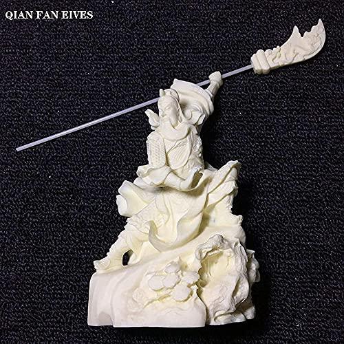 Sculpture Statue,Mythology Figure Guan Gong Statue Horizontal Knife Guan Yu Modern Art Sculpture Home Decoration Accessories High-Endstatue Feng Shui Decor Ornaments