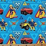 Loopomio Jersey Stoffe Feuerwehrmann_Sam blau 0,50m x VB