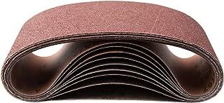 POWERTEC 11011-4 4 x 36-Inch Aluminum Oxide Sanding Belt Assortment, 3 Each of 60/100/ 180/240 Grits, 12 PK