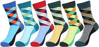 5 Pares Hombre y Mujer Estampados Peinados Calcetines de Colores Transpirable Hombres Moda Calcetines de Algodón E611-4
