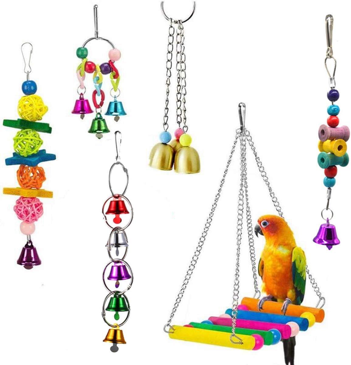 WOAILUO quality assurance Ball Bell Swing Max 68% OFF Standing Training Bird Hammock Perch Par