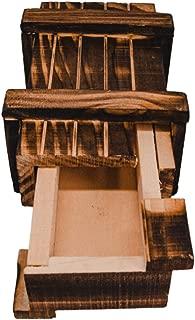 store-HD - Caja de Regalo mágica de Madera con 1 Compartimento Secreto para Regalos, vales o Joyas