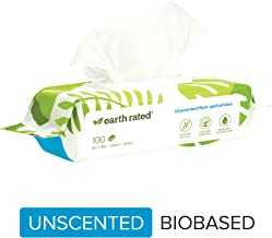 Earth Rated Dog Wipes USDA-Certified 99 Percent Biobased, Hypoallergenic Pet Wipes for Dogs & Cats, Grooming Wipes for Paws, Body and Butt