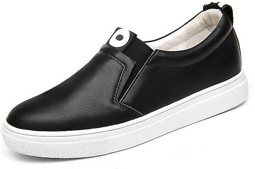 zapatos de mujer Spring Fall Ladies, Slip On Loafers, Flat Toe rojoondeado Little blanco zapatos, Academy Lazy zapatos