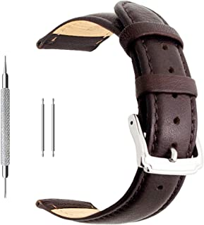 18mm 20mm 22mm Calf Leather Watch Band, Extra Soft Watch Strap for Men Women
