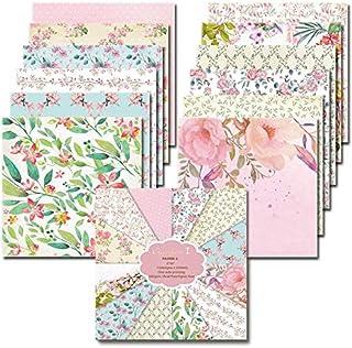 Floral Pattern Scrapbook Paper Card Background Paper Decorative for Craft Scrapbook Photo Album DIY Planner Kids Adults 366 Sheets Mixed Scrapbook Background Paper