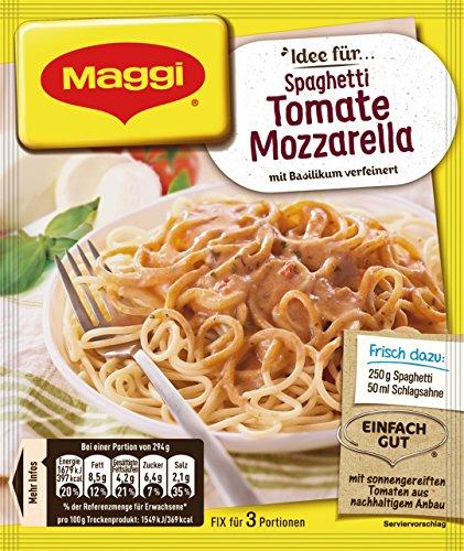 Maggi Fix für Tomate Mozzarella , Nudeln mit Tomatensauce und Mozzarella, 1er Pack (1 x 40g)