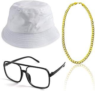 29151c0c31 Beelittle 3pcs 80s / 90s Hip Hop Costume Kit Estilo Antiguo Cool Rapper  Outfits - Sombrero