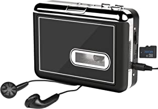 Cassette Player- Portable Cassette Tape to MP3 Converter for Walkman Cassette Audio Music- Convert Cassette Tape into MP3 and Directly Save into TF Card,Cassette Recorder with Earphone, No PC Required