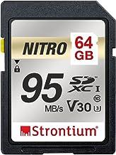 Strontium Nitro 64GB SD SDXC Flash Memory Card 95MB/s...