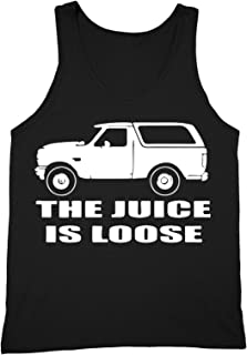 bc825334c32b0 XtraFly Apparel Men s Juice is Loose Bronco OJ Simpson Novelty Gag Tank-Top