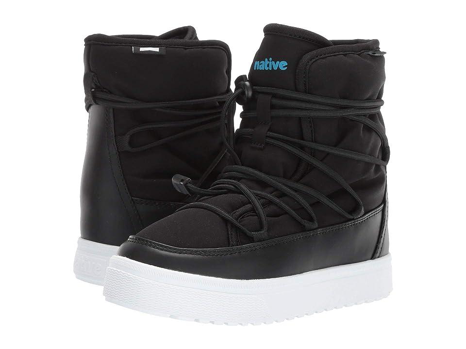 Native Kids Shoes Chamonix (Little Kid) (Jiffy Black/Shell White) Kids Shoes