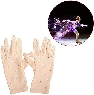 GreceYou Women Girls Figure Ice Skating Gloves - Performance Competition Figure Skating Gloves