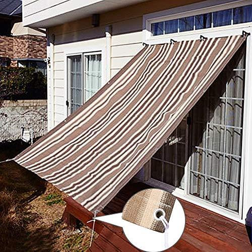 Velas de Sombra Puerta/Ventana Paño de Sombra 80% Bloque UV Cubierta de Pérgola al Aire Libre, Exterior Red de Jardín Vela Beige Balcón Resistente Pantalla de Valla de Privacidad