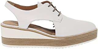 JANET SPORT Luxury Fashion Womens 39751 White Lace-Up Shoes | Season Permanent