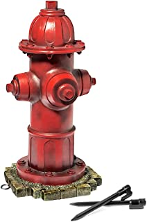 LULIND - Dog Fire Hydrant Garden Statue with 2 Stakes, 14 Inches (Small)